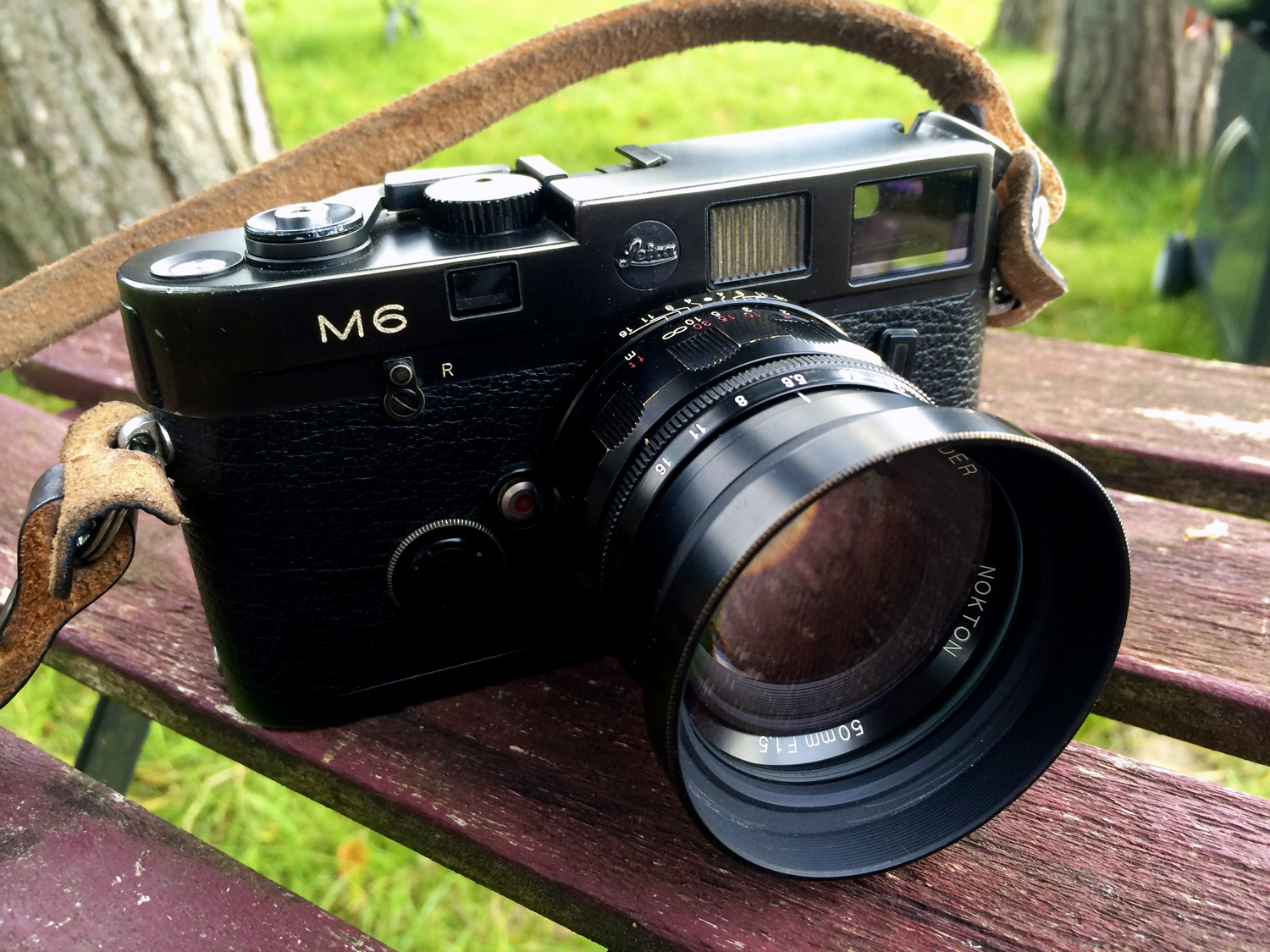 leica m6 front view with voigtlander 50 1.5