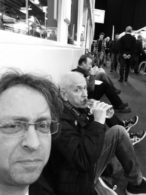 Stopping for a rest at the uk photography show