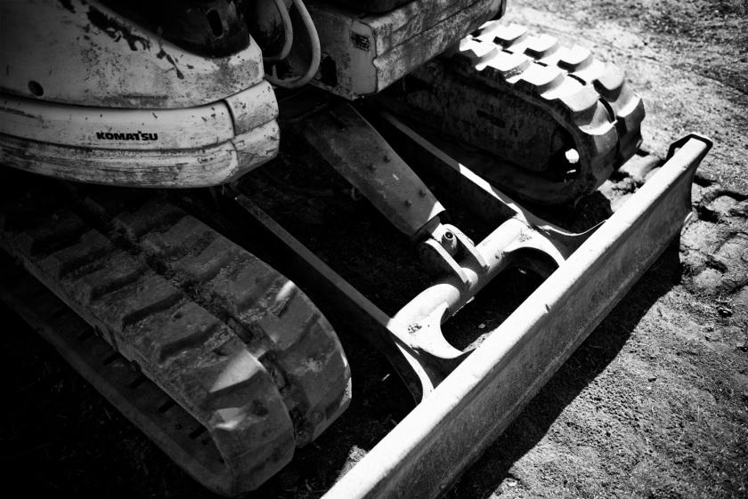 Komatsu Excavator Tracks Street Photography UK