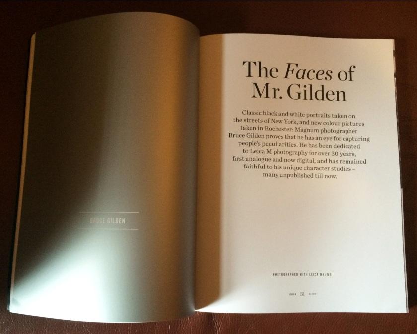 Leica M Magazine Faces of Bruce Gilden