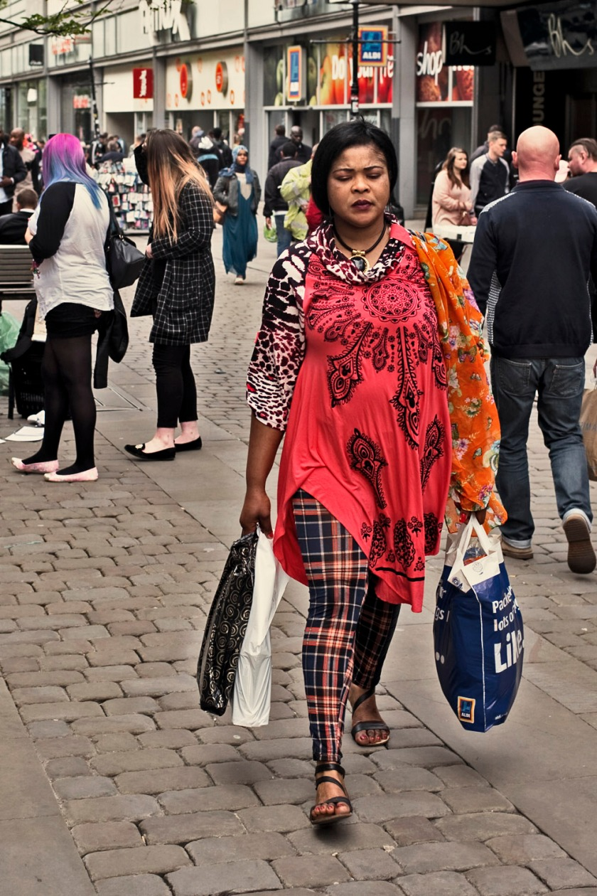 Colorful Lady Shopping Bags Manchester