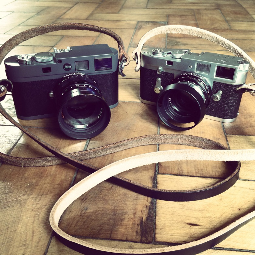 Tap & Dye Legacy Black X Natural Leather Strap Leica M-E & M2