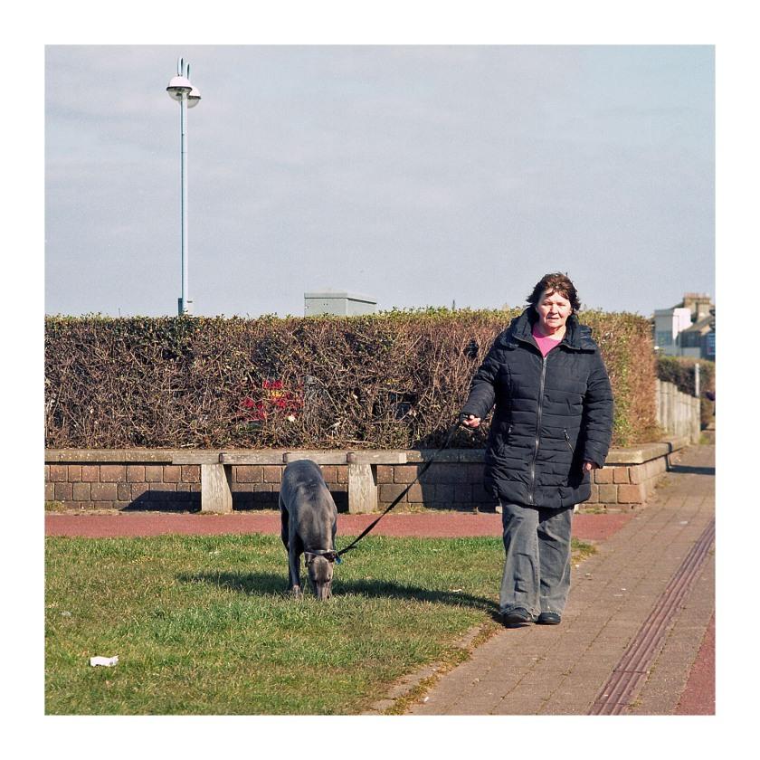 Morecambe Walking the Dog Mamiya C33 TLR
