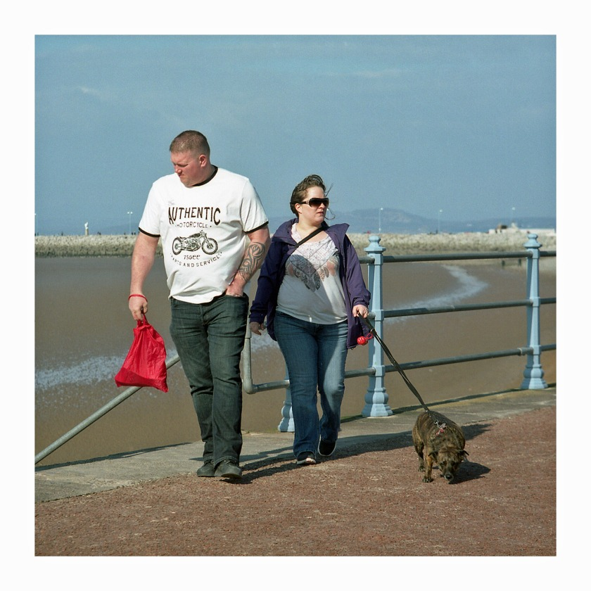 Morecambe Walking The Dog UK Street Photography Mamiya C33