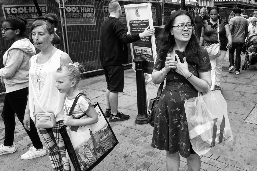 Right In The Moment Wide Lens of Ricoh WG-5 Street Photography Chester